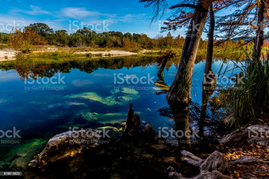 Clear Waters of Garner State Park, Texas stock photo