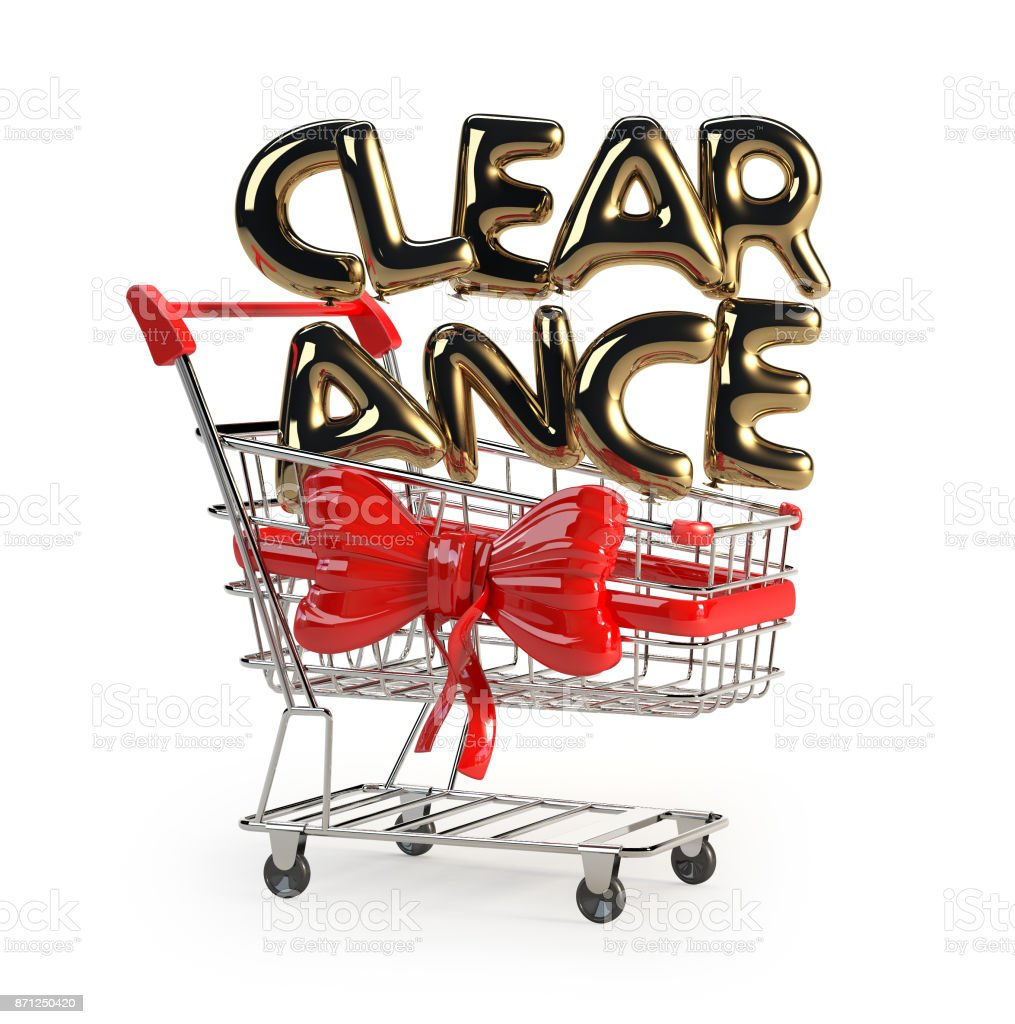 Clearance made of Glossy Helium Balloons stock photo