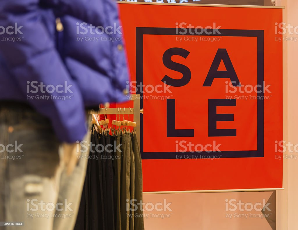 Clearance Retail Sale stock photo