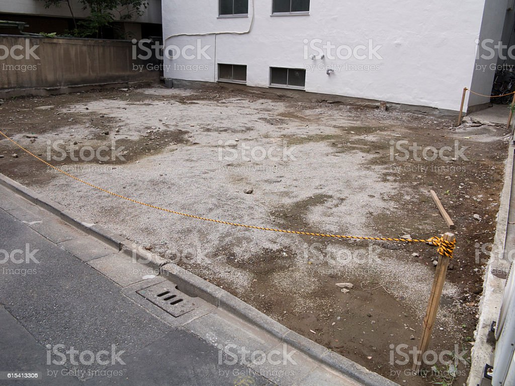 Cleared construction site stock photo