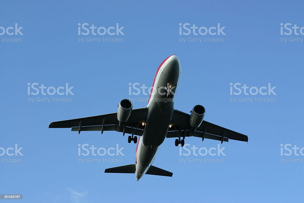 Cleared to land (airplane) royalty-free stock photo