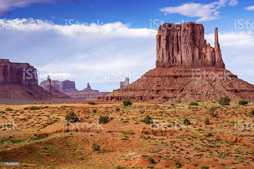Clearing Skies Over Monument Valley stock photo