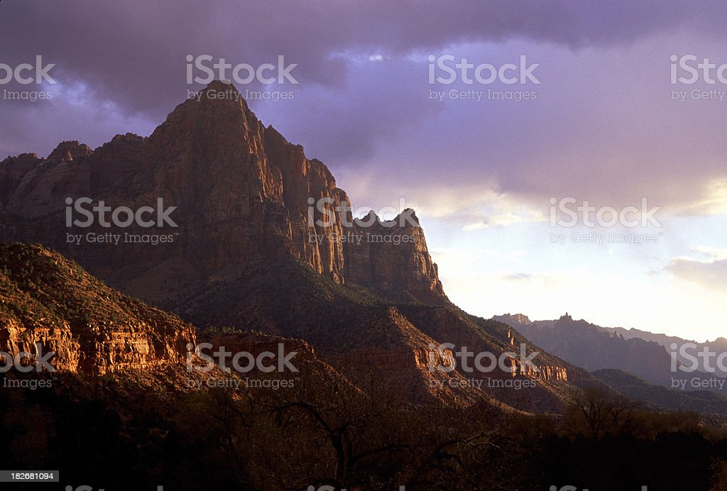 Clearing Storm in Zion royalty-free stock photo