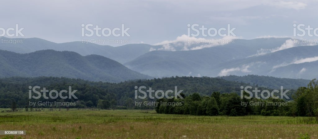 Clearing storm over the Smokie Mountians stock photo