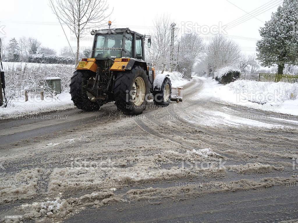Clearing the snow. royalty-free stock photo