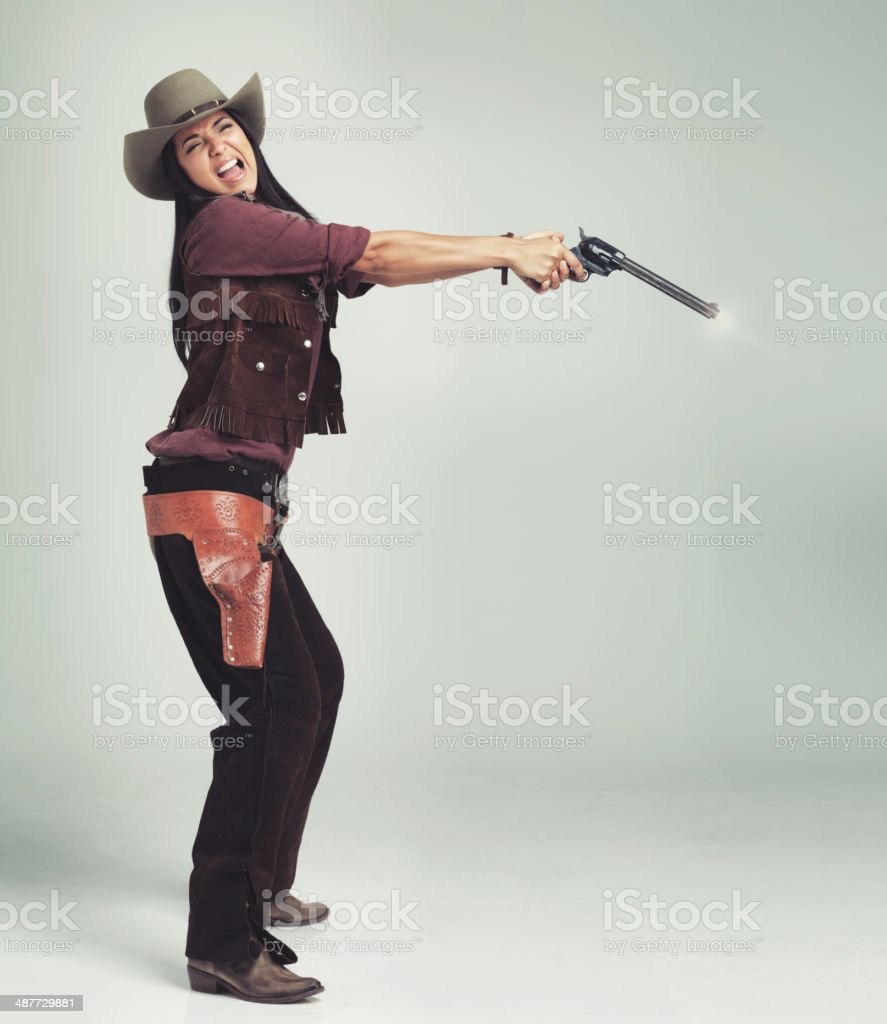 Clearly Mabel wasn't going to be a world-class outlaw... stock photo