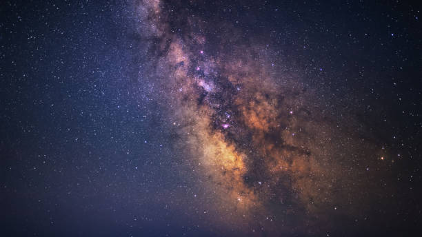 Clearly Milky Way galaxy at dark night Milky Way galaxy. Space, Star, Starlight, Astrophotography, Cosmos, Universe, milky way stock pictures, royalty-free photos & images