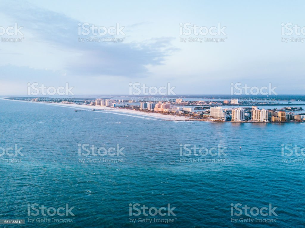 Clearwater Beach Aerial Shot royalty-free stock photo