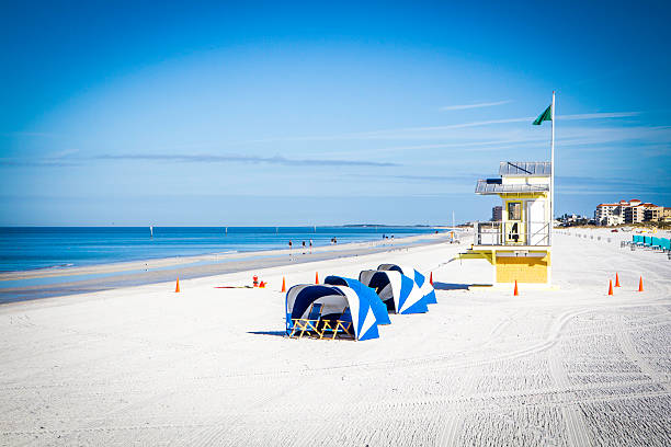 Clearwater Beach Morning stock photo