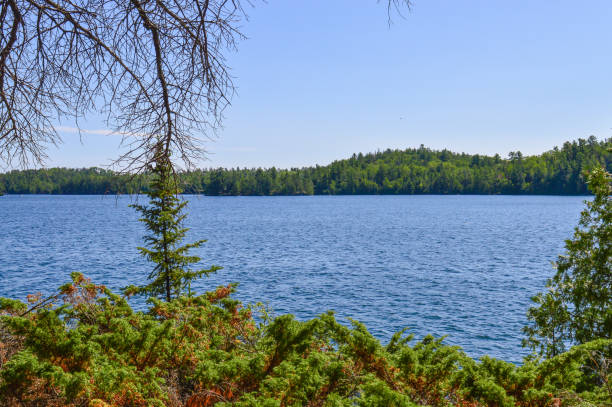 Clearwater Lake in Ontario's Northwoods stock photo