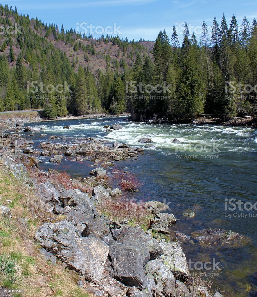 Clearwater River rapids stock photo