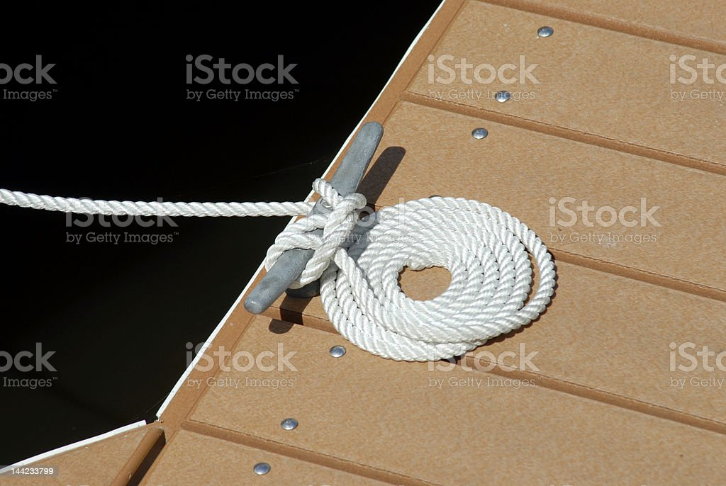 Cleat and Mooring Line royalty-free stock photo