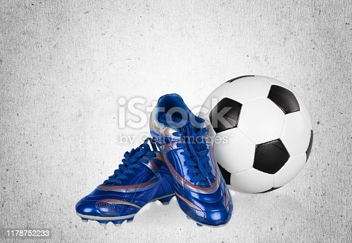 Football boots. Soccer boots. Isolated on background