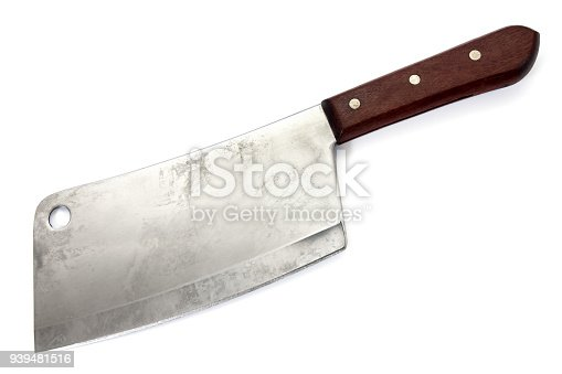 Cleaver knife isolated on white background.Chopper knife isolated