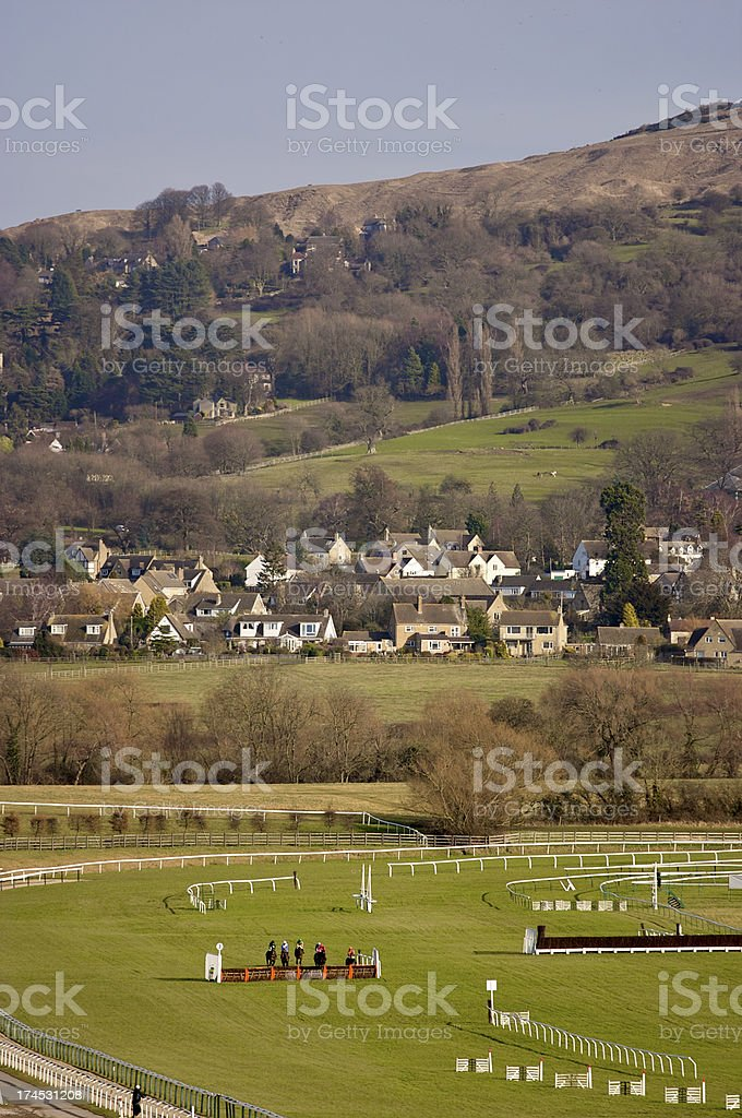 Cleeve Hill The Cotswolds Cheltenham stock photo