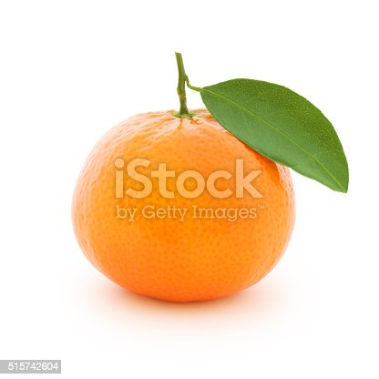 Clementine isolated on white (excluding the shadow)