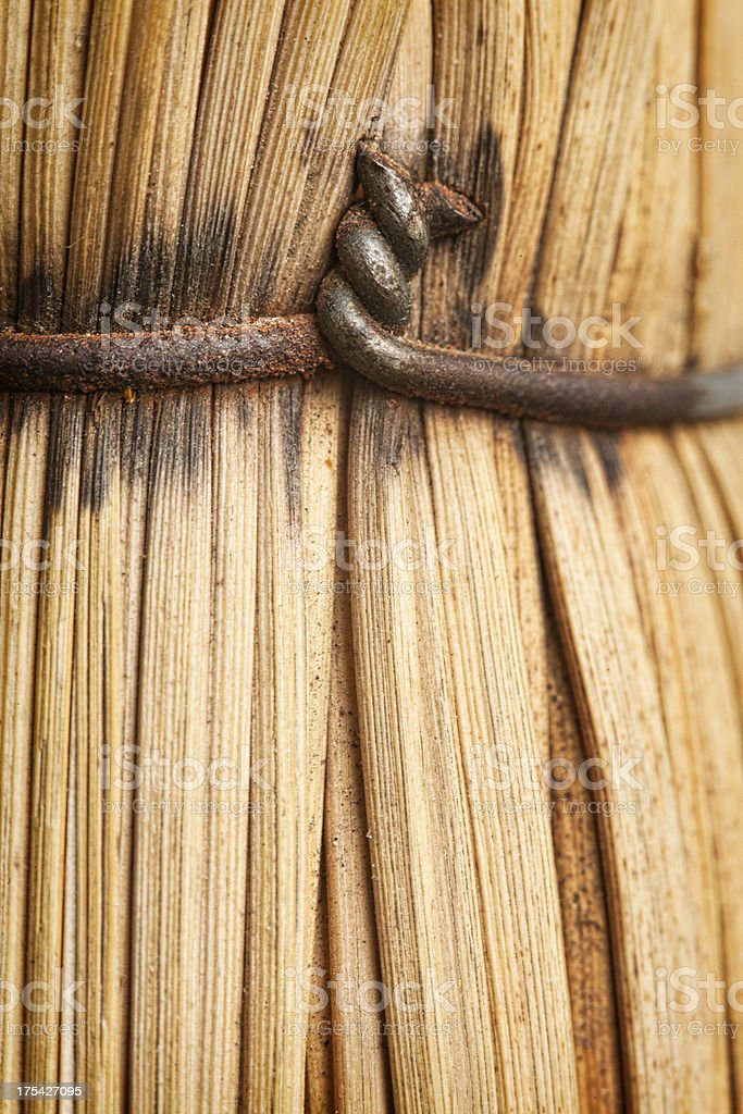Clench of rusty wire stock photo