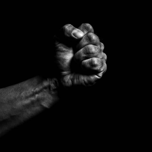 clenched fist - fist stock photos and pictures