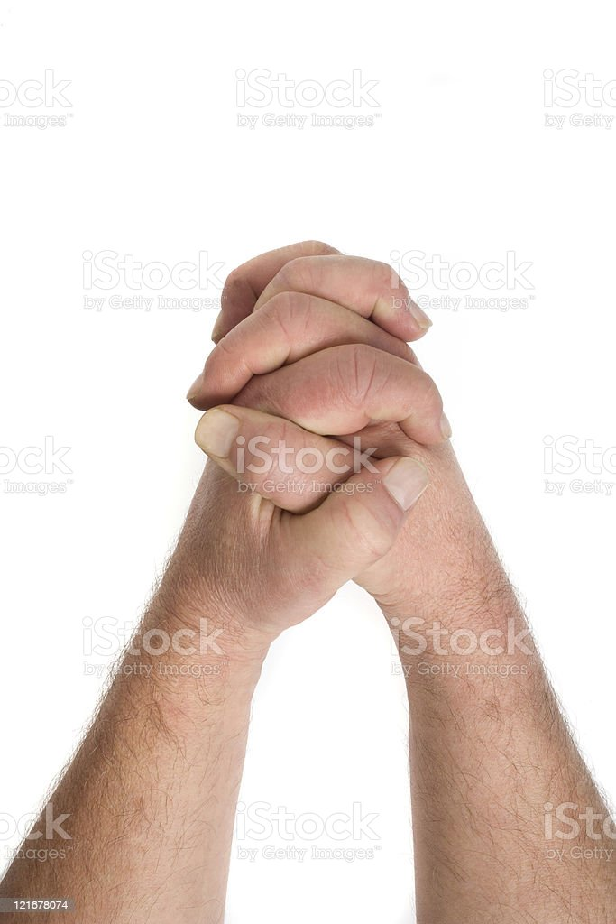 Clenched Hands royalty-free stock photo