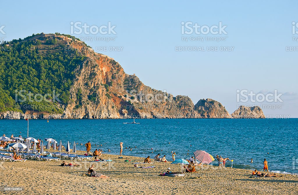 Cleopatra beach Alanya Turkey stok fotoğrafı