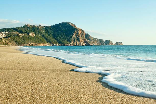 Cleopatra Beach (Kleopatra Beach) in Alanya, Turkey ストックフォト