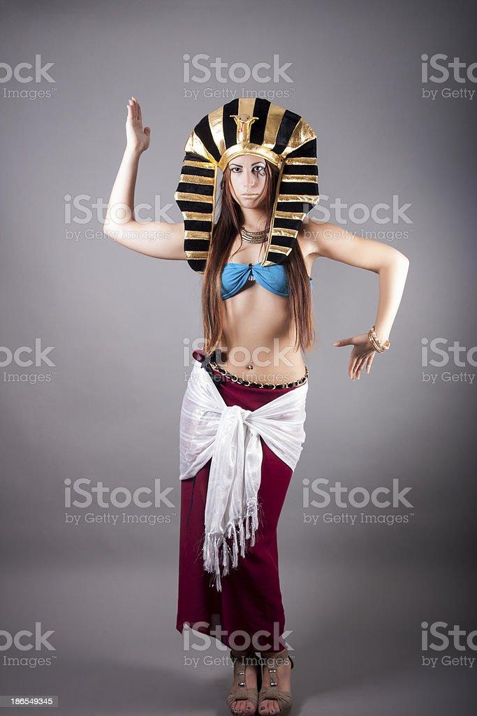 cleopatra. dance like a egyptian stock photo
