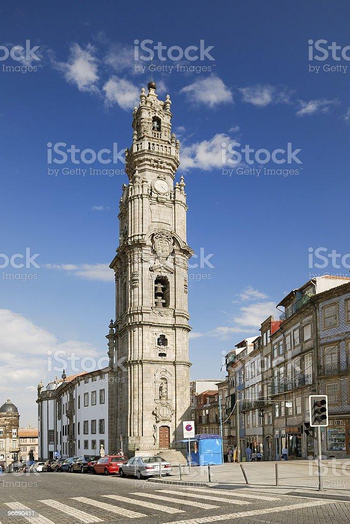 Clerigos tower in Porto (Portugal) stock photo
