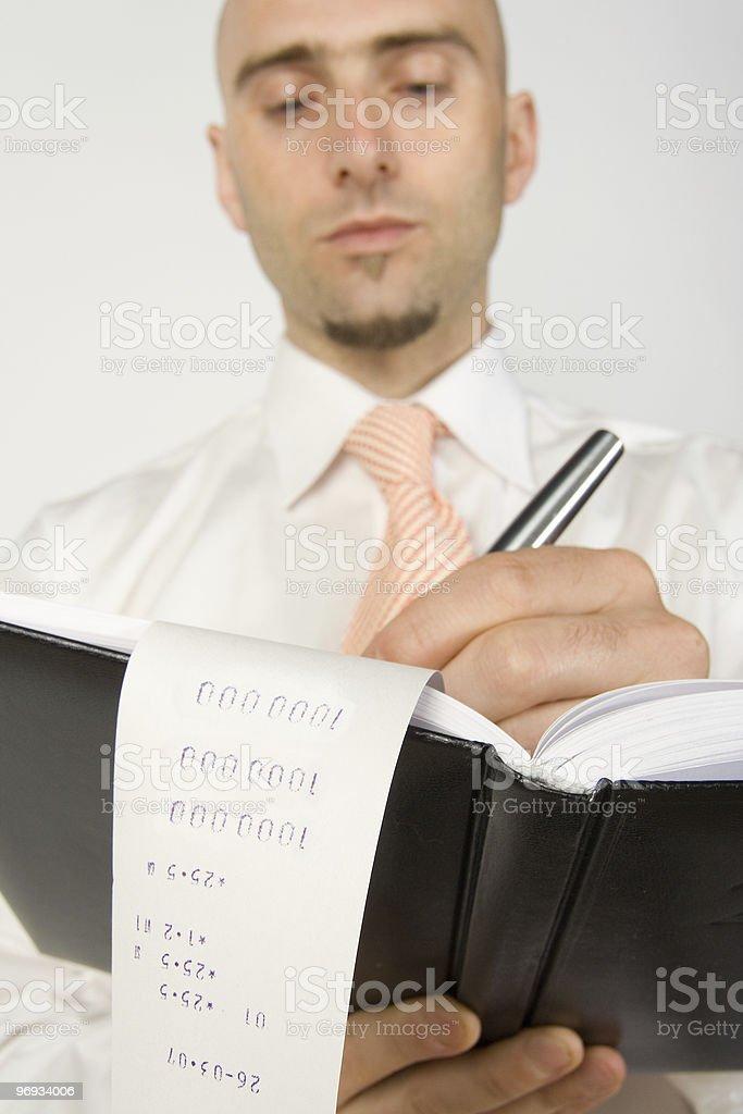 Clerk working stock photo