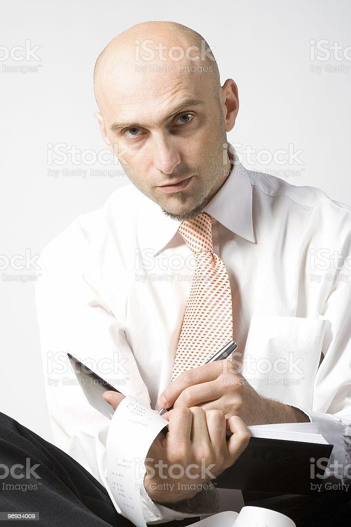 Clerk working royalty-free stock photo
