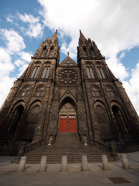 Clermont-Ferrand Cathedral stock photo