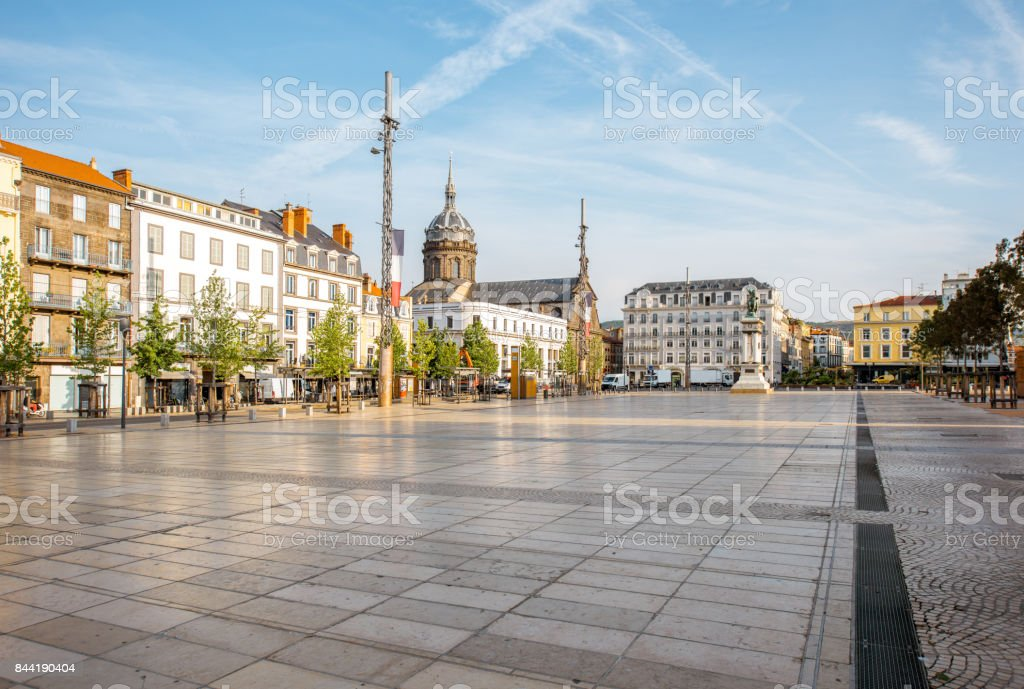 Clermont-Ferrand city in France