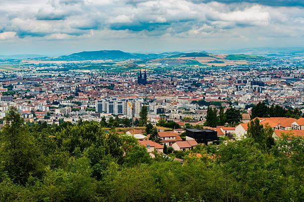 Clermont-Ferrand panorama stock photo