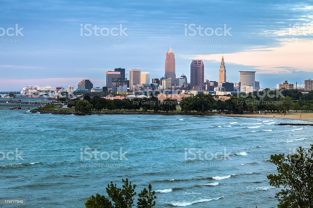 Cleveland at Sunset stock photo