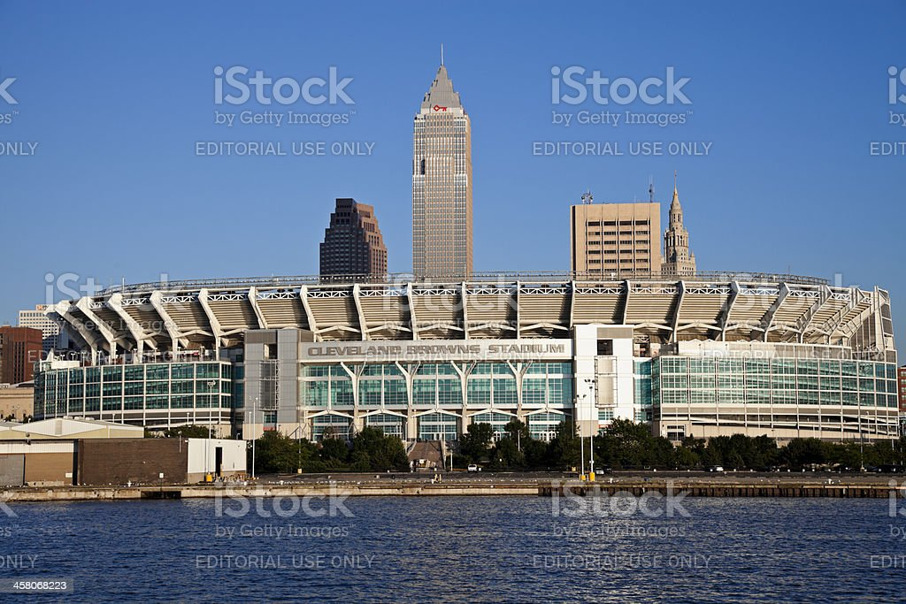 Cleveland Browns stadium stock photo