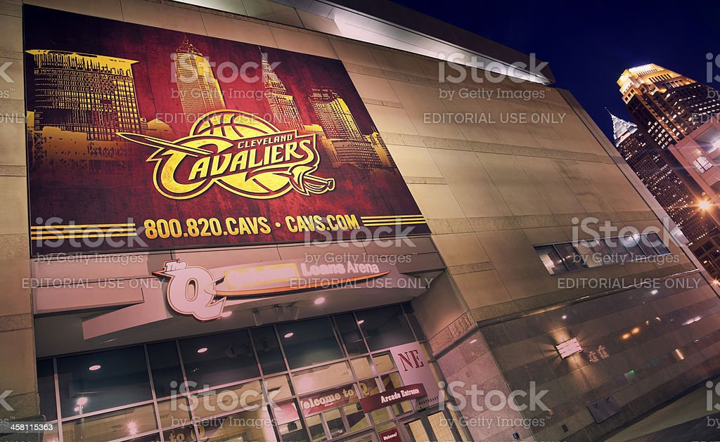 Cleveland Cavaliers banner stock photo