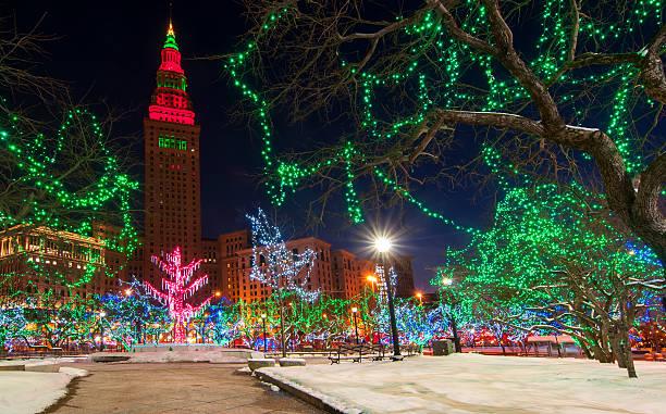 Cleveland Christmas stock photo