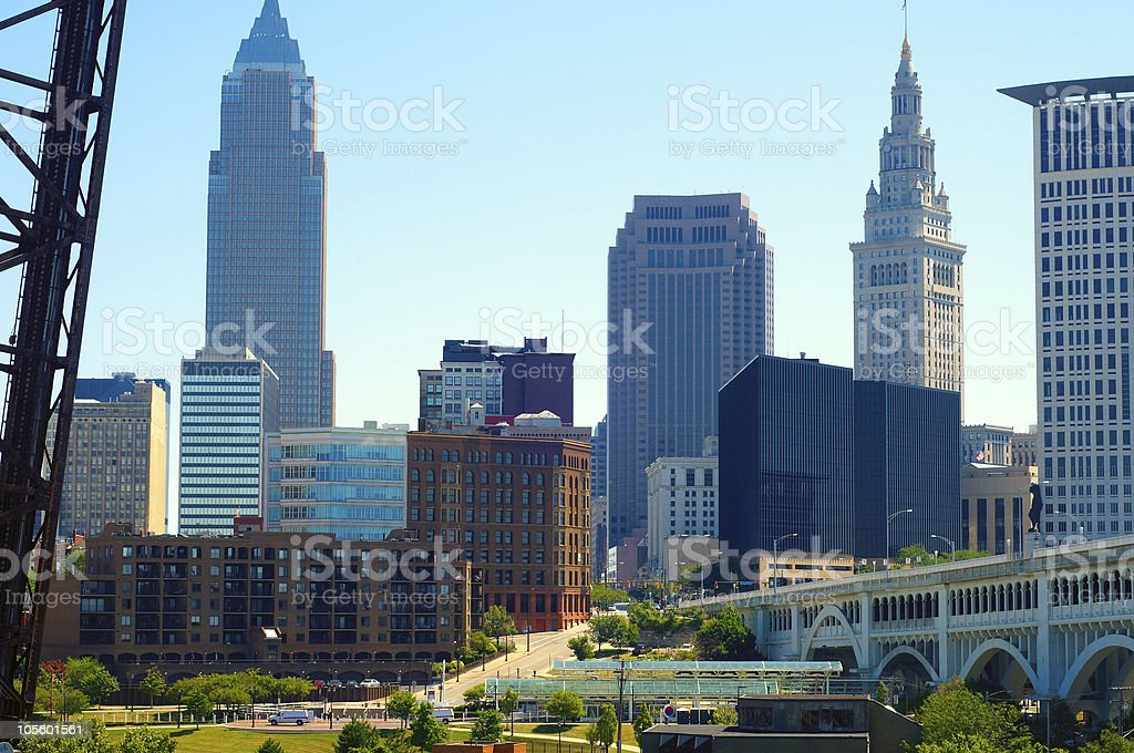 Cleveland downtown royalty-free stock photo
