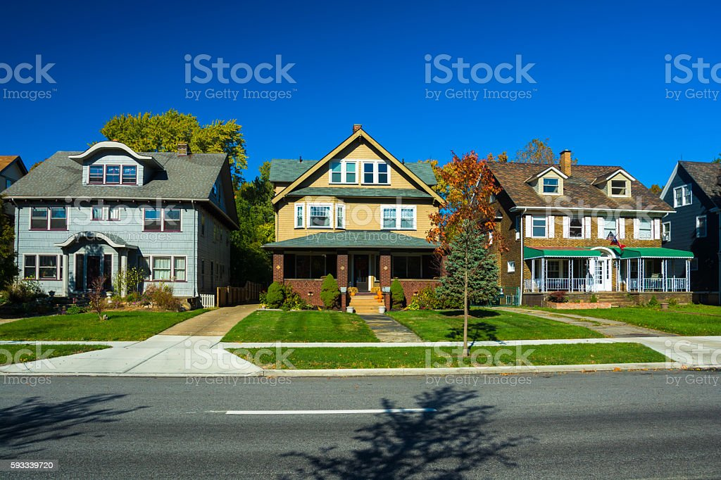Cleveland Houses / Residential Area stock photo