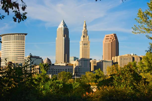 Cleveland Ohio skyline stock photo