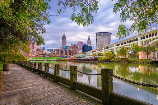 istock Cleveland, Ohio, USA Downtown Skyline 1055216368