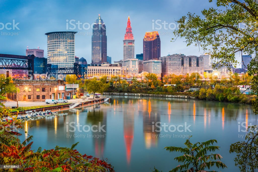 Cleveland, Ohio, USA stock photo