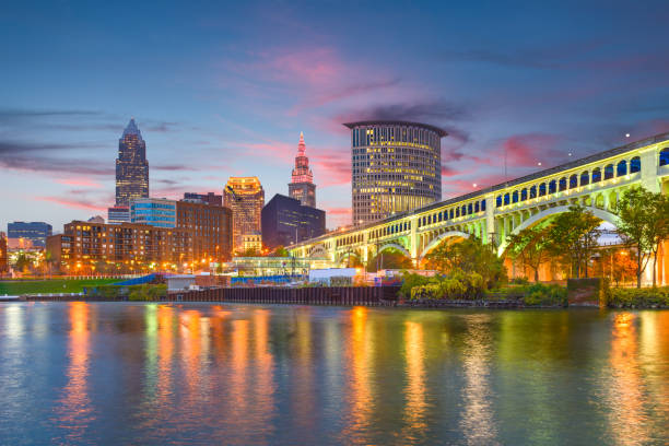 Skyline von Cleveland, Ohio, USA – Foto