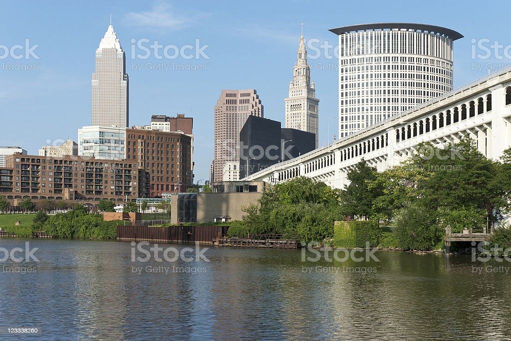 Cleveland River View stock photo
