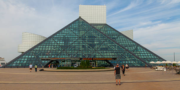 Cleveland - Rock and Roll Hall of Fame stock photo