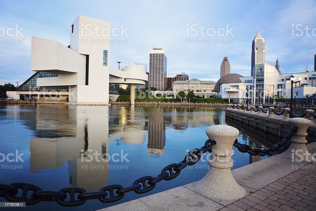 Cleveland seen morning time stock photo