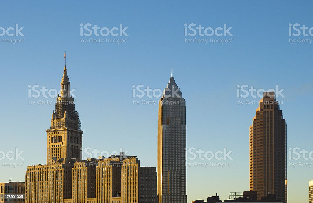 Cleveland skyscrapers stock photo
