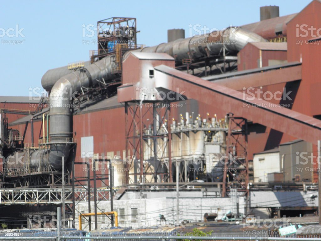 Cleveland Steel Mill stock photo