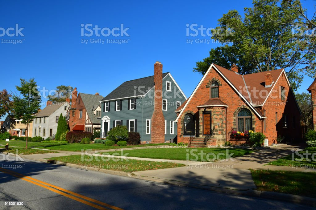 Cleveland Suburb Houses stock photo