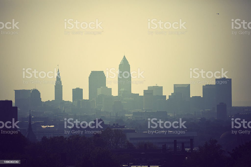 Cleveland - the city skyline stock photo
