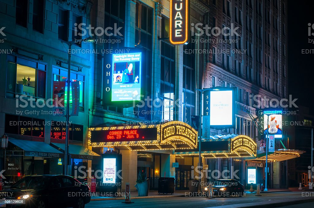 Cleveland theaters stock photo